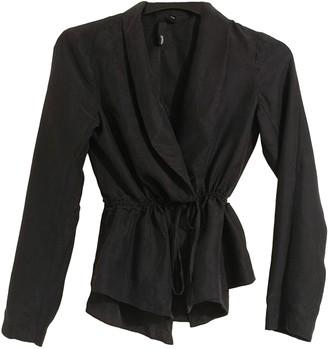Edun Black Silk Coats