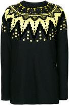 Ermanno Scervino sequin embellished zigzag jumper - women - Silk/Polyamide/Polyester/Wool - 38