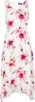 Wallis **TALL Ivory Floral Print Midi Dress