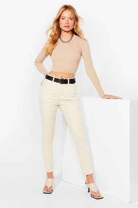 Nasty Gal Womens Washin' the World Go By Mom Jeans - Cream - 8, Cream