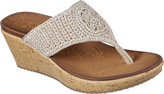 Skechers Women's Beverlee Fancy Work Wedge Thong Sandal