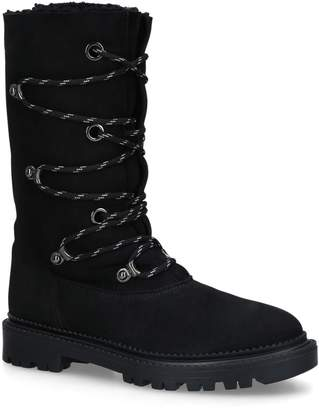 Casadei Shearling-Lined Boots