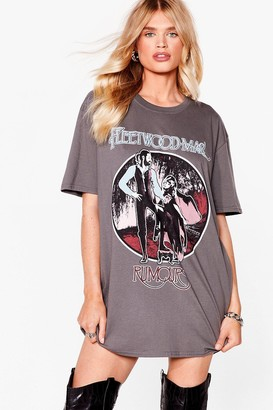 Nasty Gal Womens Fleetwood Mac Vintage T-Shirt Dress - Black - S