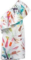 Mara Hoffman one shoulder mini dress - women - Linen/Flax - 8