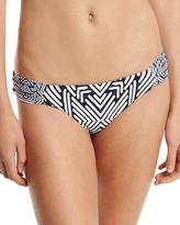 Red Carter Classic Gathered-Side Hipster Swim Bottom, Blue