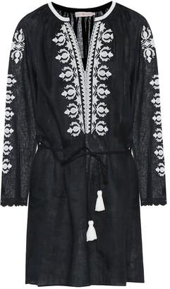 Tory Burch Embroidered linen minidress