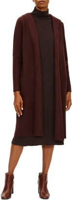 Eileen Fisher Lightweight Boiled Wool Hooded Jacket