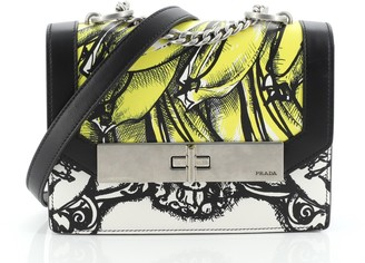 Prada Severine Chain Shoulder Bag Printed Leather