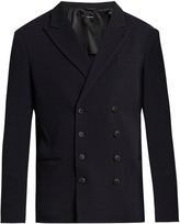 Giorgio Armani Double-breasted wool-blend blazer