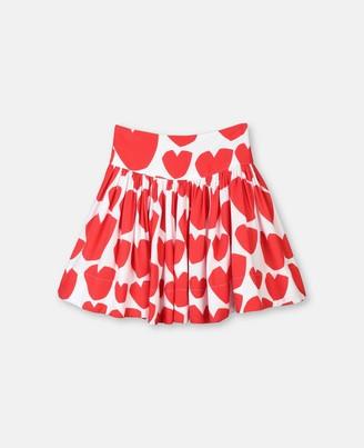 Stella Mccartney Kids Stella McCartney hearts viscose skirt