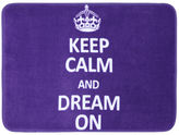 JCPenney Mohawk Home Keep Calm and Dream On Bath Rug