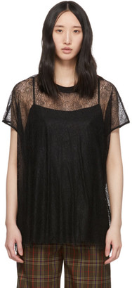 McQ Black Lace Blouse