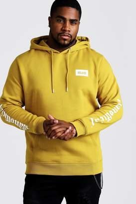 BoohoomanBoohooMAN Mens Yellow Big & Tall MAN Official Hoodie, Yellow