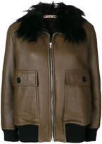 Marni embellished collar jacketfur
