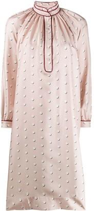 Ports 1961 Polka Dot Silk Shirt Dress