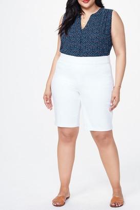 NYDJ Solid Pull-On Bermuda Shorts (Plus Size)