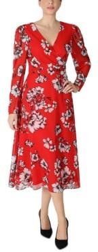 Julia Jordan Floral-Print Chiffon Midi Dress