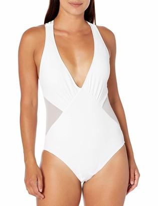 La Blanca Women's Side Multi Strap Cross Back One Piece Swimsuit