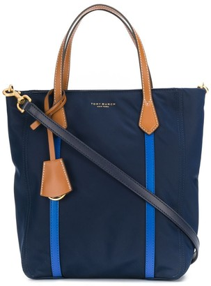 Tory Burch contrast top handle tote