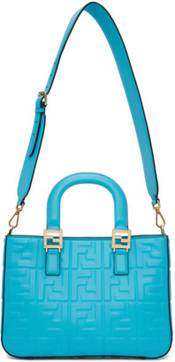 Fendi Blue Leather Small FF 1974 Tote