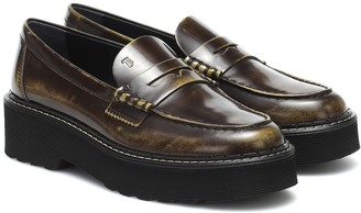 Tod's Leather platform loafers