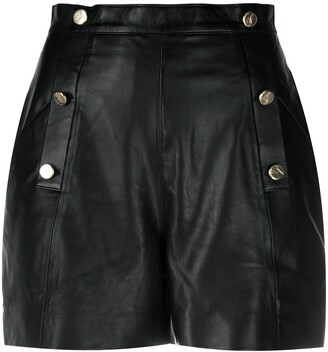 Temperley London Midnight leather shorts