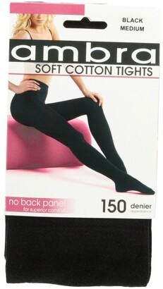 Ambra Cotton Opaque Black Tights 150D Black