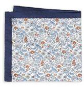 Eton Floral Cotton & Silk Pocket Square