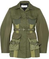 Marques Almeida Marques' Almeida - Paneled Shell And Drill Jacket - Army green