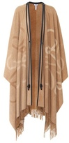 Loewe Leather-trimmed wool and cashmere cape