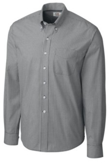 Cutter & Buck Men's Long Sleeve Gingham Shirt