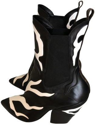 Louis Vuitton Fireball Black Leather Ankle boots