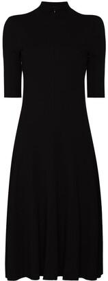 Rosetta Getty Turtleneck Midi Dress