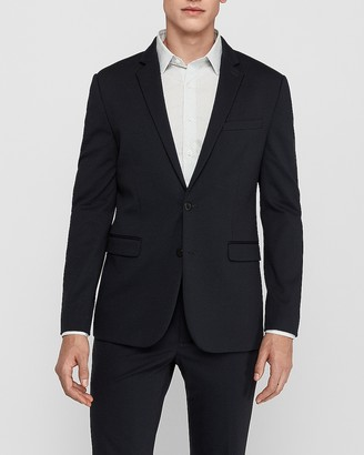 Express Extra Slim Navy Luxe Comfort Knit Suit Jacket
