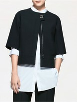 Calvin Klein Platinum Double Weave Cropped Jacket