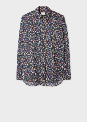 Paul Smith Women's Dark Navy 'Liberty Floral' Print Cotton Shirt