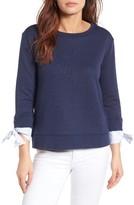 Gibson Women's Tie Sleeve Sweatshirt