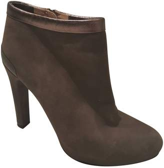 Fendi Grey Suede Ankle boots
