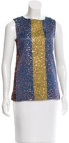 Derek Lam Sleeveless Jacquard Top