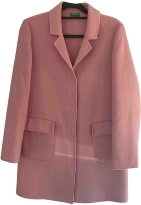 Benetton Pink Polyester Coats