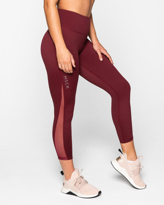 Muscle Republic - Women's Red 7/8 Tights - Breathe 7-8 Leggings - Size One Size, L at The Iconic