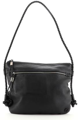 Gucci Braided Strap Zip Messenger Leather Medium
