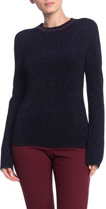 BA&SH Metallic Knit Pullover Sweater