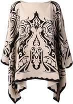Etro embroidered knitted cape - women - Cashmere - One Size
