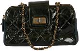 One Kings Lane Vintage Chanel Forest Green 2-Tone Handbag - Vintage Lux