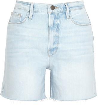 Frame Le Tour light blue stretch-denim shorts