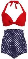 Simplicity Vintage High Waist Swimsuit Swimwear Bikini Set