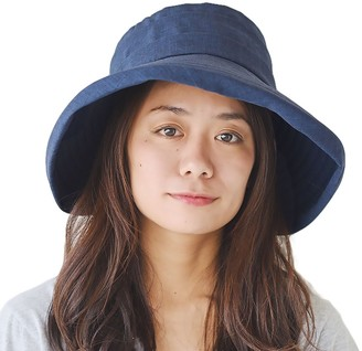 Casualbox Womens Sun Hat Compact Foldable Wide Brim Light UV Summer Japan Navy