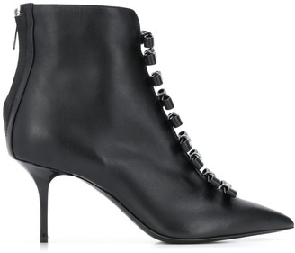 MSGM logo bow ankle boots