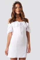 NA-KD Tie Front Off Shoulder Mini Dress